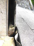 fehlerhafter Anschluss Vordach | Fensterbank OG
