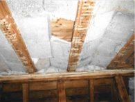 Abbruch + Rückbau: Holzbalkendecke mit maroder Bimsausfachung